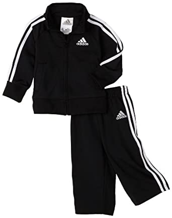 adidas Infant Boys Core tricot Set, Black, 24 months