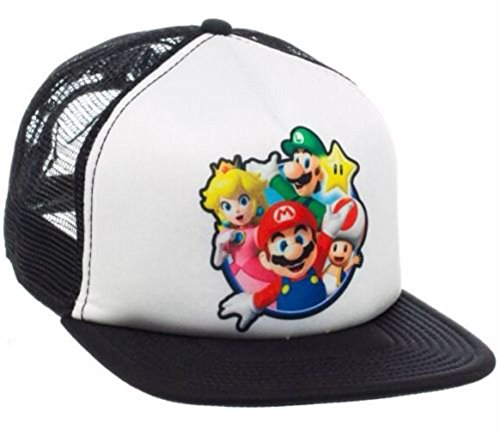 Super Mario Bros. Group Photo Mesh Trucker