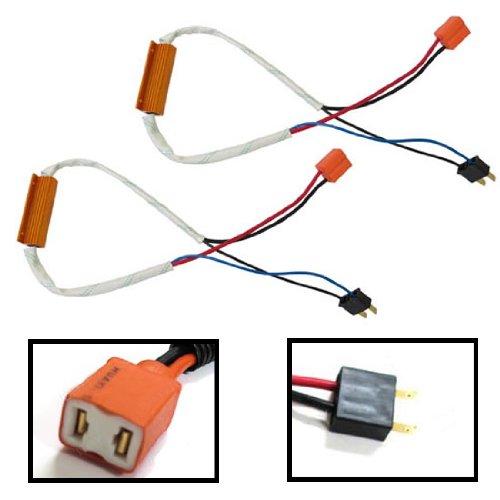Ijdmtoy Plug-N-Play Error Free Decoder Wiring Kit For H7 Led Bulbs On Fog Lights Or Daytime Running Lights