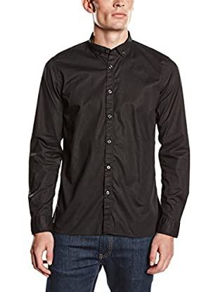 Springfield Camisa Hombre Solid Slim Fit (Negro)