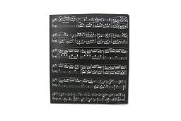 Music Themed Music Score Sheets Design PVC Ring Binder - PVC 3 O-Ring Size 25mm A4