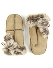 M&S Collection Faux Suede Mittens