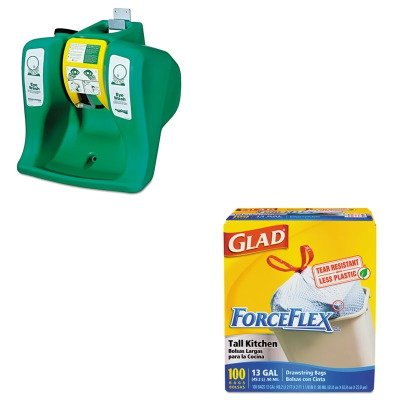 KITCOX70427GUAG1540 - Value Kit - Guardian Equipment AquaGuard Gravity-Flow Portable Eyewash (GUAG1540) and Glad ForceFlex Tall-Kitchen Drawstring Bags (COX70427)