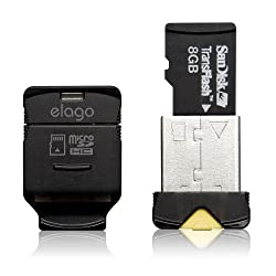 ELAGO Nano Mobile Micro SD Reader-World Smallest (EL-RD-012,Black)
