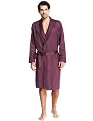 Pure Cotton Lightweight Spotted Dressing Gown