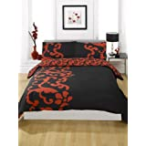 Dreamscene Chelsea Duvet Cover, Red, Doubleby Linens Limited