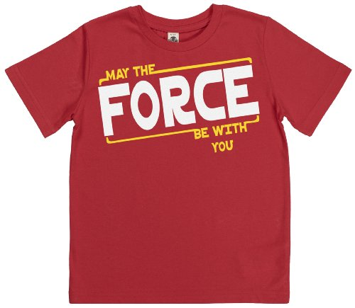 Phunky Buddha - May The Force Be With You Toddler Top 3-4 Yrs - Red front-588970