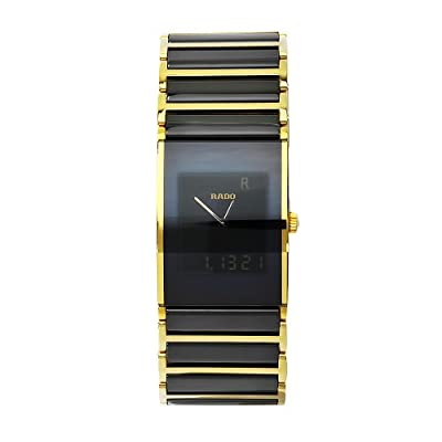 Rado Men's R20799152 Integral Black Digital Dial Stainless Steel Case Watch