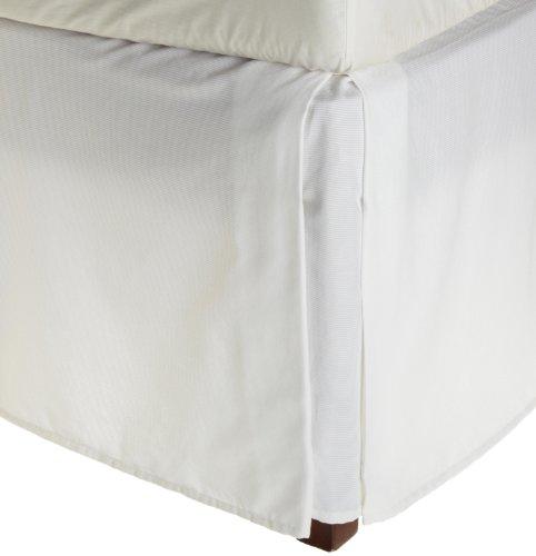 Vera Wang Rib Stripe California King Bedskirt, White front-574045