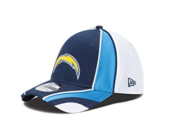 NFL Mens San Diego Chargers Speed Stretch 3930 Flex Fit Cap (Navy/Powder Blue/White, S/M)
