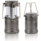 Ultra Bright LED Lantern Camping Lantern - Collapses - Suitable for: Hiking, Camping, Emergencies, Hurricanes, Outages - Super Bright - Lightweight - Water Resistant - Gray ¡