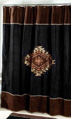 Avanti Linens Mojave Shower Curtain, Black (Southwestern Shower Curtain compare prices)