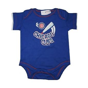 MLB Chicago Cubs baby / Infant One-Piece Short Sleeve Onesie Bodysuit / Romper - blue (size: 6-9M )