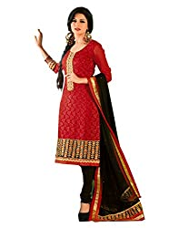 Porwal Bros Women's Dress Material (RV-7310_Red_Free Size)
