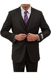Tazio Mens Two button Three piece Slim Fit Suit
