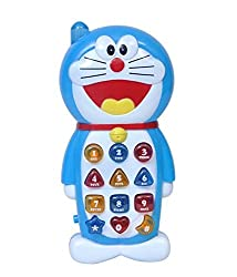 Parteet Doraemon Musical Toy Phone With Music & Light for Kids