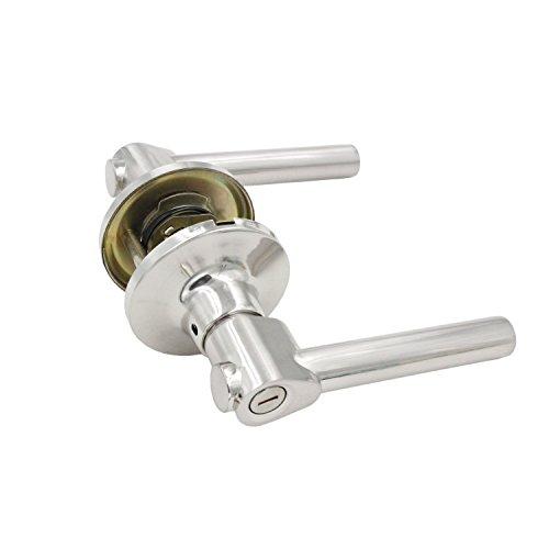 Aleko Skt812pr Privacy Lever Door Lock Interior Doors Bed Bath Thick Handle Hardware Hardware