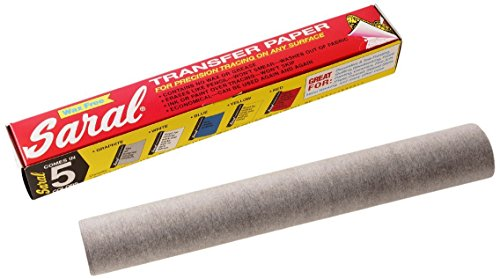GRAPHITE SARAL WAX-FREE Transfer (Tracing) Paper For Precision Tracing on any Surface-12 inches x 12 foot roll (Wax Tracing Paper compare prices)