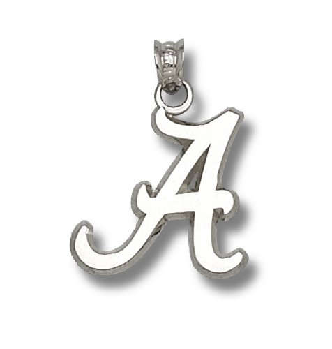 NCAA University of Alabama Sterling Silver Script A Pendant