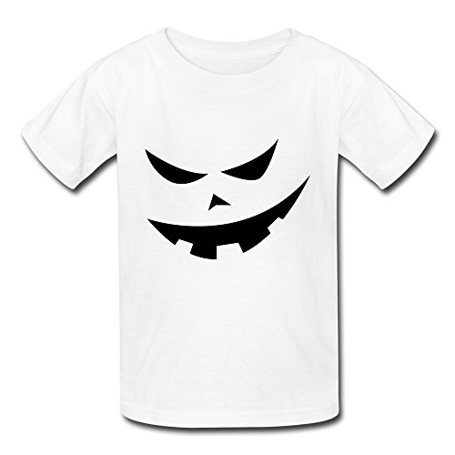 AOPO Jack-O-Lantern Pumpkin Face Halloween Costume T Shirts For Kids Unisex