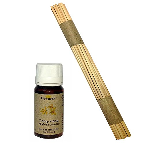 Devinez Premium Reed Sticks/ Refill Pack For Reed Diffusers 10 Inches (100 Sticks) With Free 15ml Ylang-Ylang...