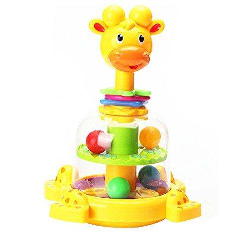 Fajiabao Il Regalo Ideale Compleanno Giocattolo Giraffa Rotary con Palline Colorate e Loop per Bambini Infanzia