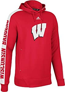NCAA adidas Wisconsin Badgers Sideline Swagger I Performance Hoodie - Cardinal by adidas