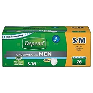 Depends Underwear for Men - Small - Case of 76