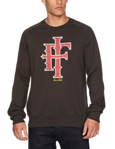 Iron Fist Heritage Logo 3/4 Sleeve Raglan Men's Jumper Black Small