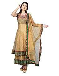 Sharmili Womens Net Fabric Ready-To-Wear Anarkali Salwar Suit With Double Flare
