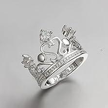 buy Superhai Fashion Creative Crown Inlay Zircon Ring