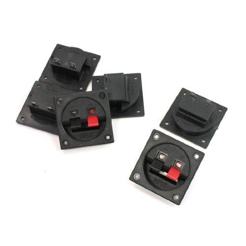 6Pcs Push In Type Horizontal Plastic Shell Speaker Terminals Plate