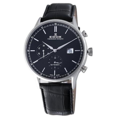 [エドックス] EDOX 腕時計 Men's Les Vauberts Chronograph Watch スイス製自動巻 91001 3 NIN メンズ [TimeKingバンド調節工具& HARP高級セーム革セット]【並行輸入品】