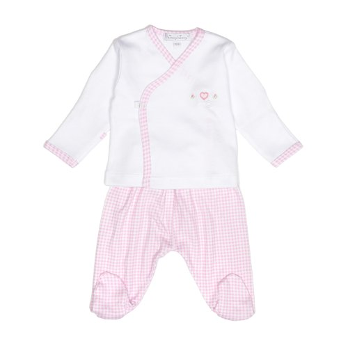 Kissy Kissy Pink Gingham Pima Cotton Two Piece Outfit - Premature
