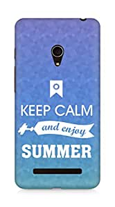 Amez Keey Calm and Enjoy Summer Back Cover For Asus Zenfone 5