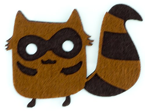 Raccoon Diy Applique Embroidered Sew Iron On Patch