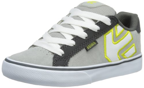 Etnies Unisex-Child Kids Fader Vulc Trainers 4301000086 Light Grey/Dark 3 UK, 36 EU, 4 US
