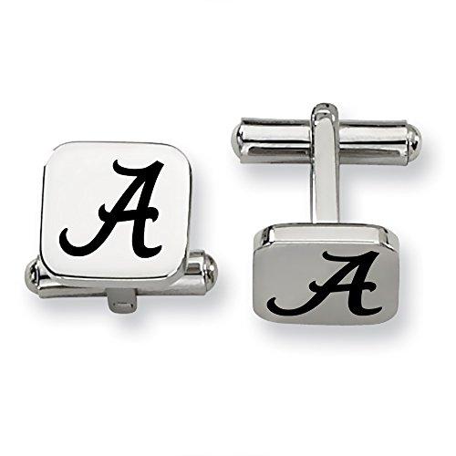 Alabama Crimson Tide Stainless Steel Square Cufflinks