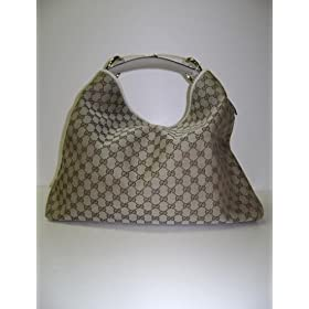 Gucci 114900 Beige - Cream Chain Hobo Horsebit Handbags - PRICE REDUCED
