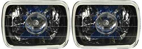 Spec-D Tuning LHP-7X6JM 7x6 Square Black Housing Clear Lens Projector Headlights (Headlights For 93 Toyota Pickup compare prices)