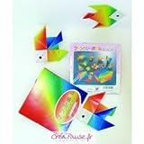 Kit Origami - 40 Feuilles de papier Origami Arc en Ciel...