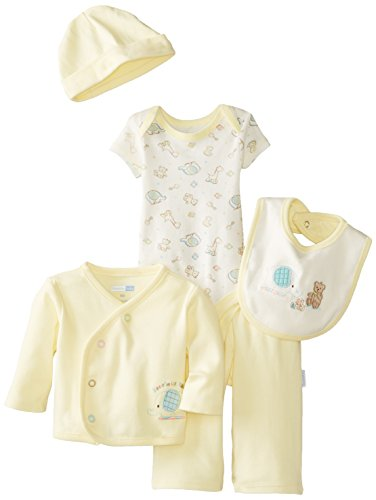 Vitamins Baby Baby-Boys Newborn Precious Elephant 7 Piece Gift Set, Yellow, 6 Months