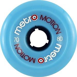 Buy Metro Motion 70mm 80a Blue Skateboard Wheels (Set Of 4) by Metro