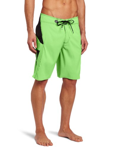 Volcom - Mens Anialtr Solid Boardshorts, Size: 40, Color: Neon Lime