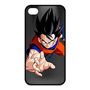 Classic Japanese Anime Dragon Ball Goku For Iphone4/4s Black or White Best Rubber Cover Case-Creative New Life