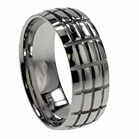 316L stainless steel ring with shiny polish - Width: 8mm (Sizes 8-14)stone - Width: 7mm (Sizes 8-12)