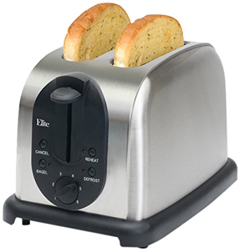 MaxiMatic ECT-200X Elite Platinum Brushed Stainless-Steel 2-Slice Toaster