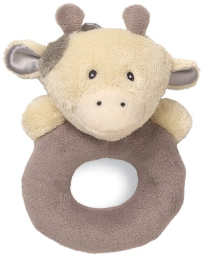 "Gund Baby Ring Rattle, Golly Giraffe Grey, 6"" (Discontinued by Manufacturer)"