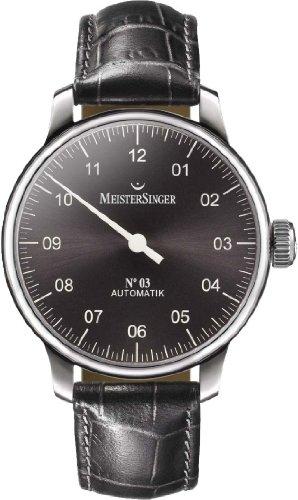 Meister Singer No 03 Reloj elegante para hombres Diseño Clásico