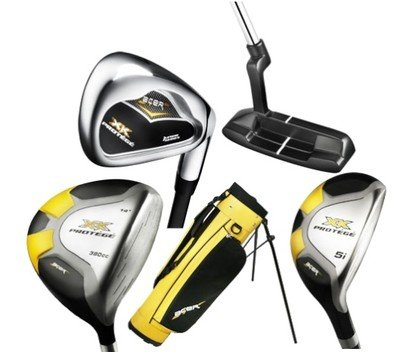 New Junior RH Kids Golf Club Set w/bag Hybrids Age 5-8